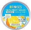 Nature of Agiva Roses Fruit Salad Nourishing Sugar Scrub - Захарен скраб за лице и тяло със сок от портокал и кюрасо -