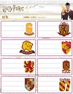 Етикети за тетрадки - Хари Потър: Грифиндор - книга