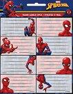 Етикети за тетрадки - Спайдърмен - комикс