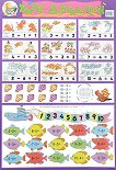 Basic Subtraction - стенно учебно табло на английски език - 52 x 77 cm -