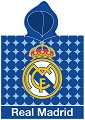 Детски халат тип пончо - ФК Реал Мадрид - 100% памук с размери 50 x 115 cm -
