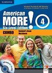 American More! - ниво 4 (A2 - B1): Учебник и учебна тетрадка - Combo + CD / CD-ROM -