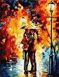 Рисуване по номера с акрилни бои - Дъждовна среща - Комплект за картина с размери 40 x 50 cm -