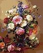 Рисуване по номера с акрилни бои - Цветя за нея