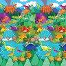 Динозаври - Детски пъзел-килим с меки елементи -
