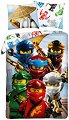 Детски двулицев спален комплект от 2 части - LEGO: Ninjago Ву -