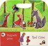 Магнитна книжка - Червената шапчица - Детска образователна играчка -