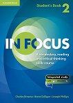In Focus - ниво 2: Учебник + онлайн материали -