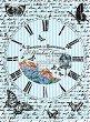 Декупажна хартия - Часовник