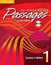 Passages - ниво 1: Книга за учителя + CD - Second Edition Учебна система по английски език -