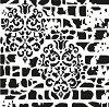 Шаблон - Флорален мотив - Размери 25 x 25 cm -