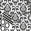Шаблон - Флорален орнамент - Размери 25 x 25 cm -