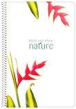 Ученическа тетрадка със спирала - Nature Формат А4 с широки редове - тетрадка