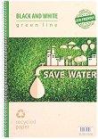 Ученическа тетрадка със спирала - Green Line : Формат А4 с широки редове - 80 листа -