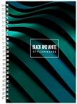 Ученическа тетрадка със спирала - Stylishwaves Формат A5 с широки редове - тетрадка