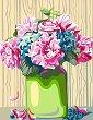 Рисуване по номера с акрилни бои - Божури - Комплект за картина с размери 35 x 45 cm -