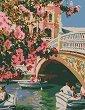 Рисуване по номера с акрилни бои - Романтично настроение - Комплект за картина с размери 35 x 45 cm -
