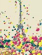 Рисуване по номера с акрилни бои - Париж - Комплект за картина с размери 35 x 45 cm -