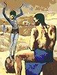 Рисуване по номера с акрилни бои - Момиче върху топка: Пикасо - Комплект за картина с размери 35 x 45 cm -