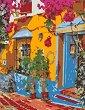 Рисуване по номера с акрилни бои - Ресторант в Испания - Комплект за картина с размери 35 x 45 cm -