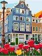 Рисуване по номера с акрилни бои - Амстердам - Комплект за картина с размери 35 x 45 cm -