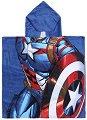 """Детски халат тип пончо - Капитан Америка - С размери 50 x 115 cm от серията """"Отмъстителите"""" -"""