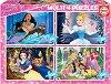 Принцесите на Дисни - Комплект от 4 пъзела -