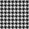 Салфетки за декупаж - Хаундстут принт в черно и бяло - Пакет от 20 броя -