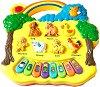 Пиано - Животни - Детска играчка с музикални и светлинни ефекти -