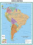 Южна Америка - политическа карта - Стенна карта - М 1:7 000 000 -