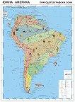 Южна Америка - природогеографски зони - Стенна карта -  М 1:7 000 000 -