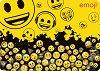 """Двустранна подложка за бюро - Емотикони - От серията """"Emoji"""" -"""