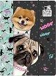 Папка с ластик - Кученца - За формат A4 -