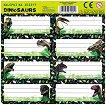 Етикети за тетрадки - Динозаври - тетрадка