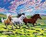 Рисуване по номера с акрилни бои - Коне
