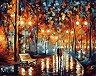 Рисуване по номера с акрилни бои - Разходка в дъжда