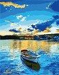 Рисуване по номера с акрилни бои - Лодка в морето