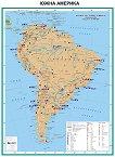 Южна Америка - стопанство - Стенна карта - М 1:7 000 000 -