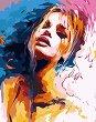 Рисуване по номера с акрилни бои - Жена