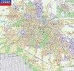 Стенна административна карта на София - М 1:8 000 -