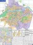 Стенна административна карта на Пловдив и областта - М 1:9 000 -