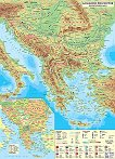 Стенна природогеографска карта на Балканския полуостров - М 1:1 400 000 -