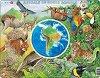 Животните на Южна Америка - Образователен пъзел в картонена подложка -