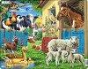 Домашни животни - Пъзел в картонена подложка -