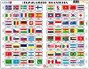 Държавни знамена - Образователен пъзел в картонена подложка -