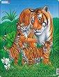 Тигри - Пъзел в картонена подложка -