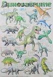 Динозаврите - стенно учебно табло - детска книга