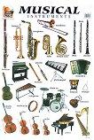 Musical Instruments - стенно учебно табло на английски език - 52 x 77 cm -