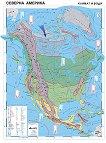 Северна Америка - климат и води - Стенна карта - М 1:7 000 000 -