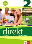 Direkt - ниво 2 (B1): Учебник за 8. клас + 3 CD : Учебна система по немски език - Giorgio Motta, Beata Cwikowska - помагало